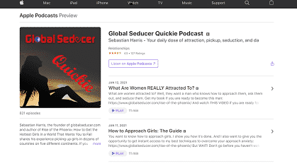 The Global Seducer Quicky Podcast by Sebastian Harris