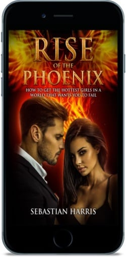 The Rise of The Phoenix by Sebastian Harris on a smartphone