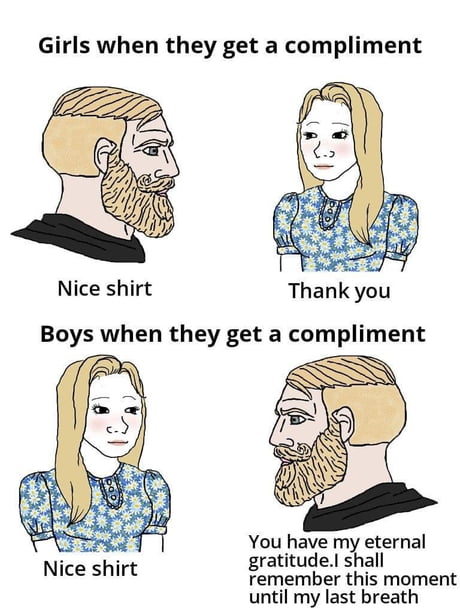 girls only give compliments to guys they really like