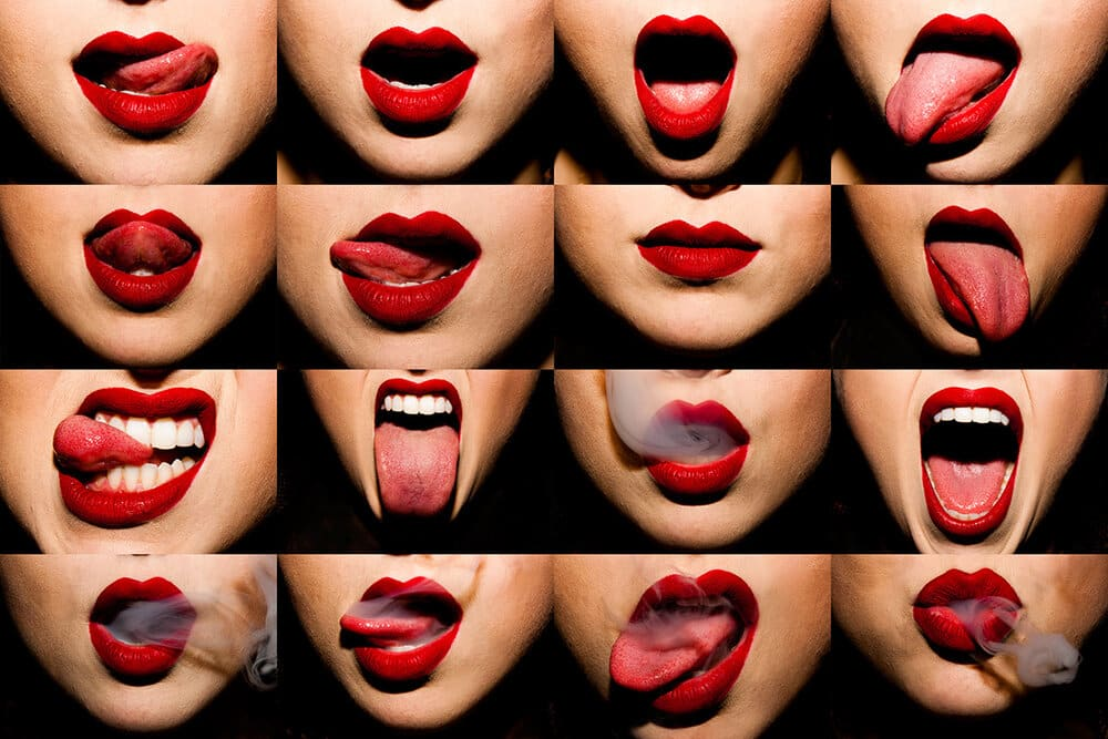 different ways a girl will play with her lips to get the attention of a guy she loves